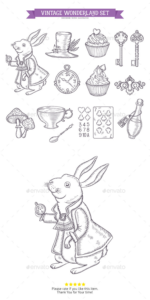 Wonderland Graphic Set - Decorative Symbols Decorative