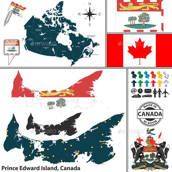 Map of Prince Edward Island, Canada - Travel Conceptual