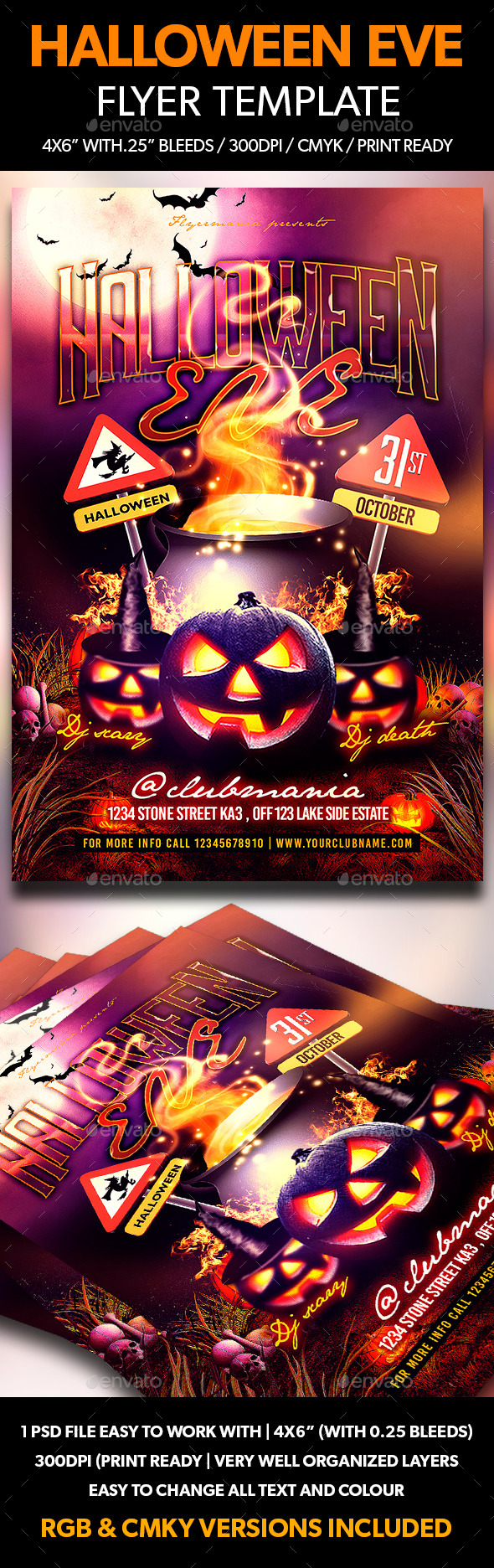Halloween Eve Flyer Template  - Events Flyers