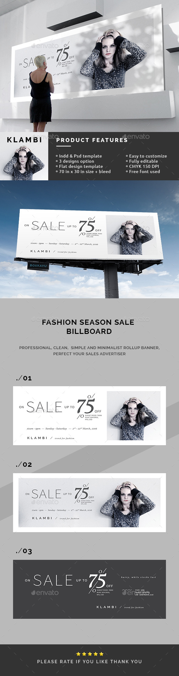 The End of Season Sale Billboards - Signage Print Templates