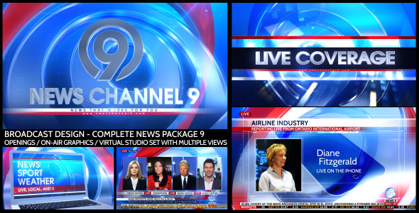 Broadcast Design - Complete News Package 9
