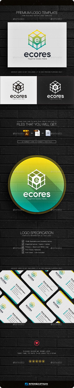 Ecores - Letter E Logo - Letters Logo Templates