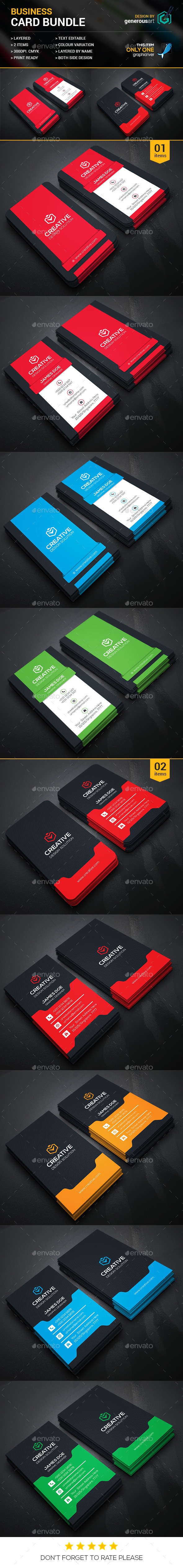 Business Card Bundle 2 in 1 vol.17