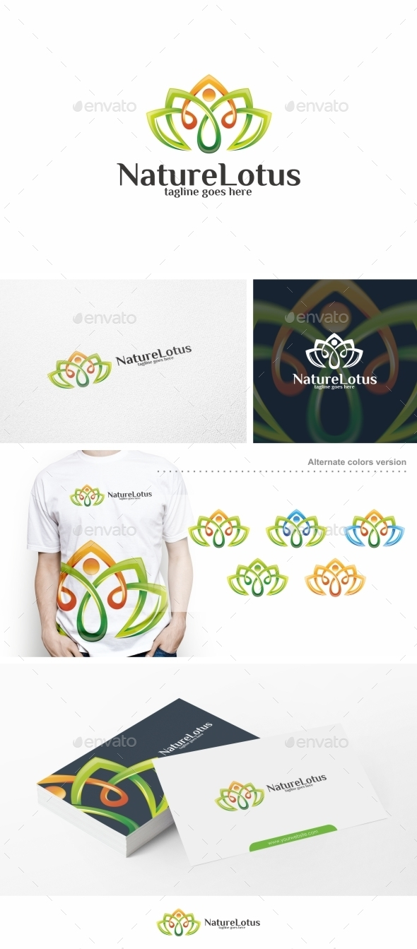 Nature Lotus / Yoga - Logo Template - Nature Logo Templates