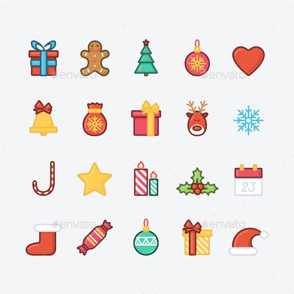 20 Christmas Icons - Christmas Seasons/Holidays