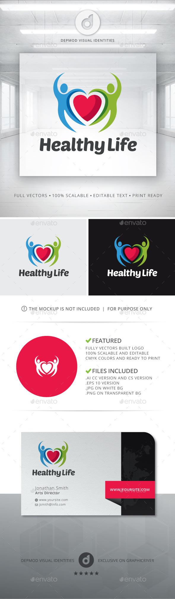 Healthy Life Logo - Humans Logo Templates