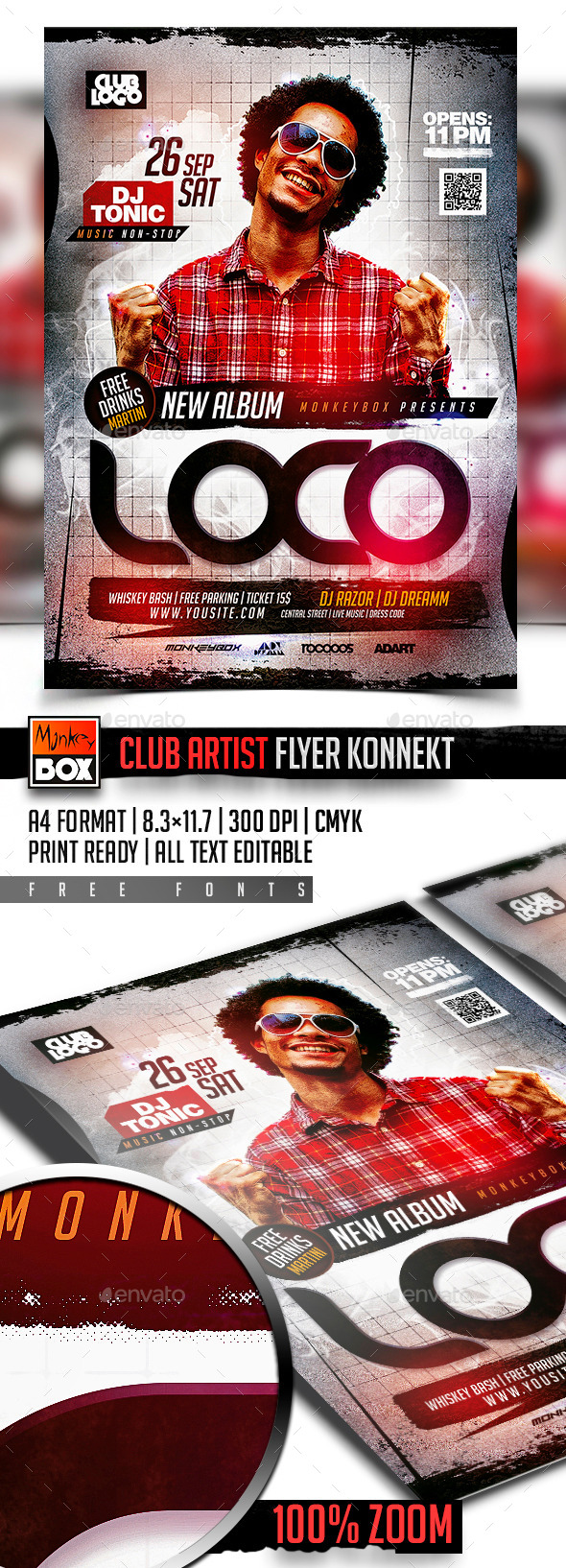 Club Artist Flyer Konnekt - Events Flyers