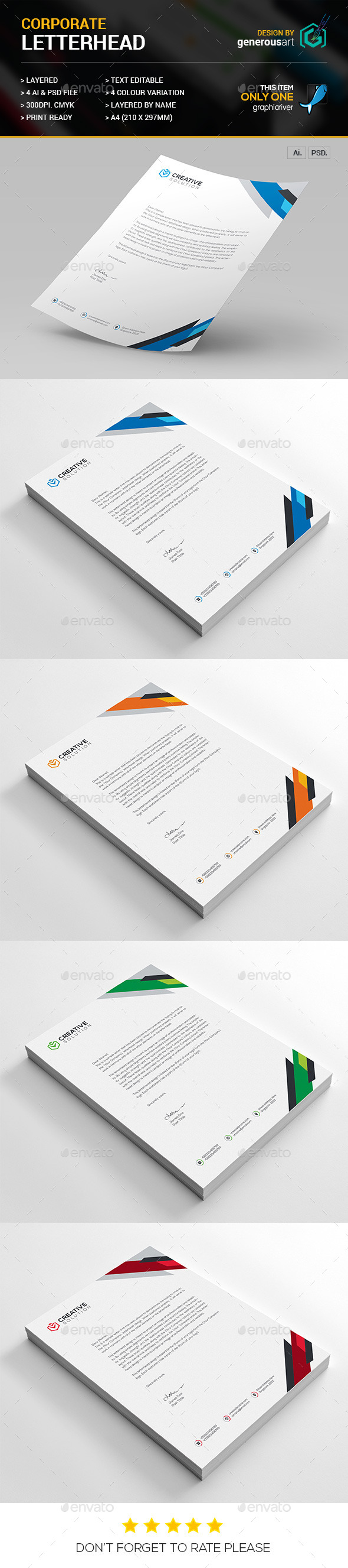 Letterhead Vol_21 - Stationery Print Templates