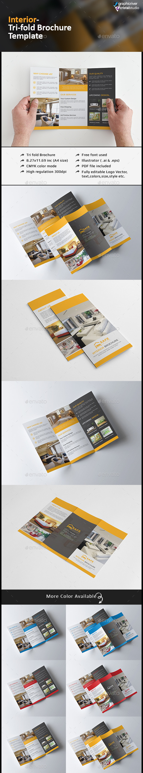 Interior Tri fold Brochure - Corporate Brochures