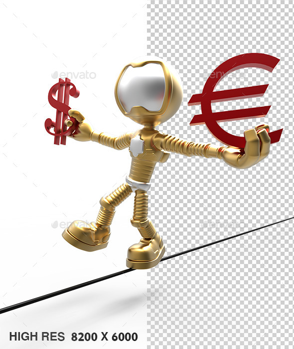3D Gold Astronaut Holding Dollar Sign