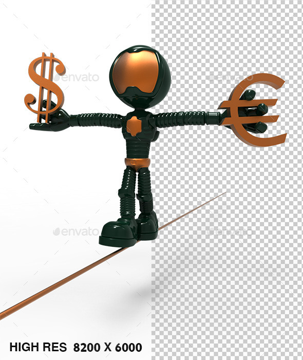 3D Gold Astronaut  Holding Dollar Sign - Characters 3D Renders