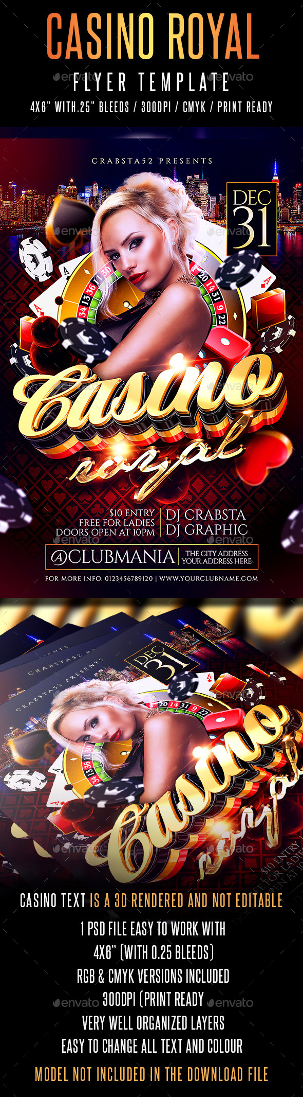 Casino Royal Flyer Template - Events Flyers