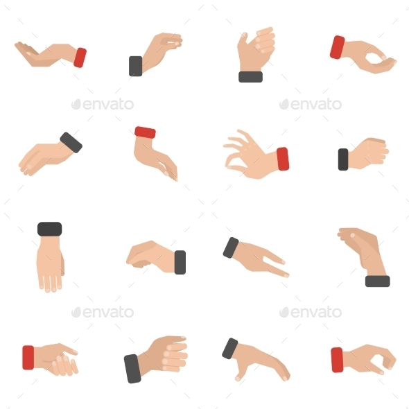 Grabbing Hand Icons Set - Abstract Icons