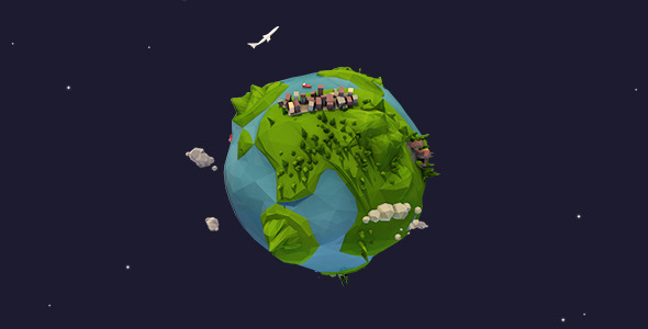 Lowpoly Earth Rotation