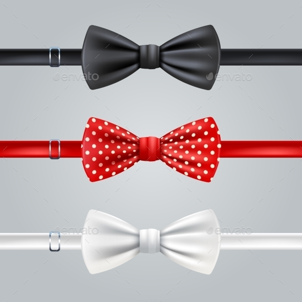 Bow Ties Realistic Set - Man-made Objects Objects