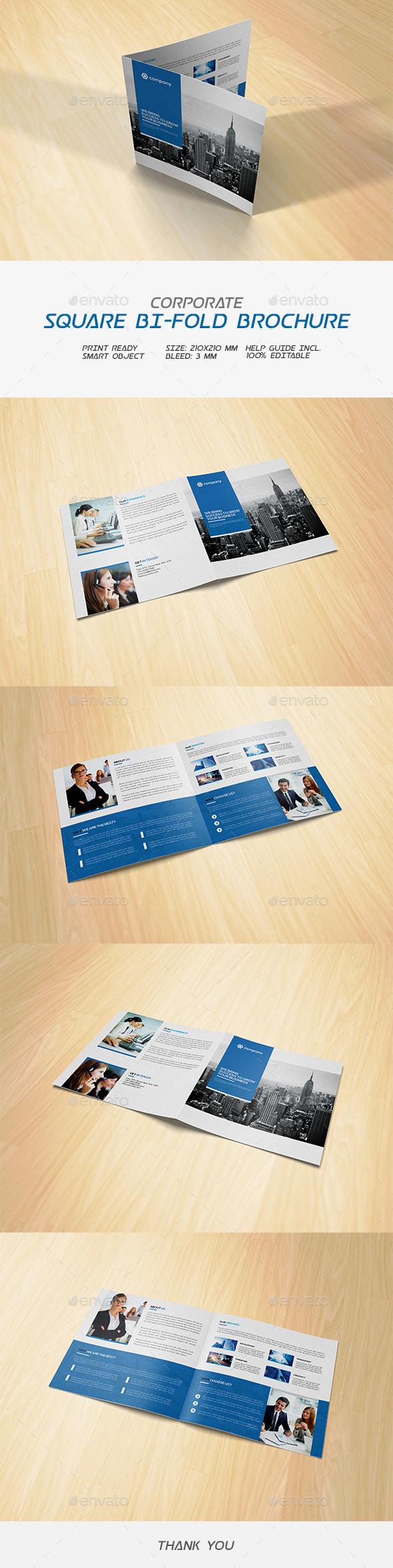 Square Corporate Bifold Brochure