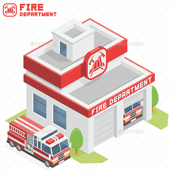 Fire Department Building - Buildings Objects