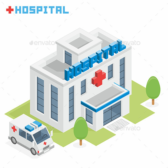 Hospital Building - Buildings Objects