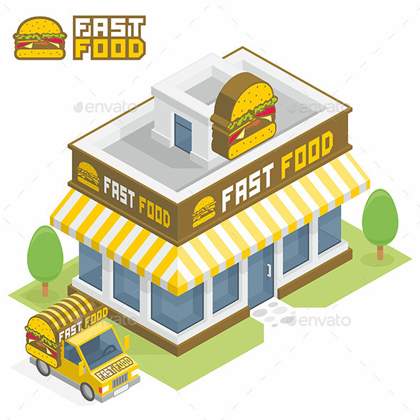 Fast Food Building - Buildings Objects