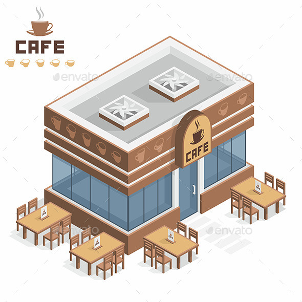 Cafe Building - Buildings Objects