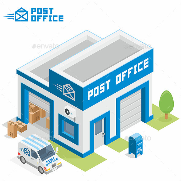Post Office Building - Buildings Objects