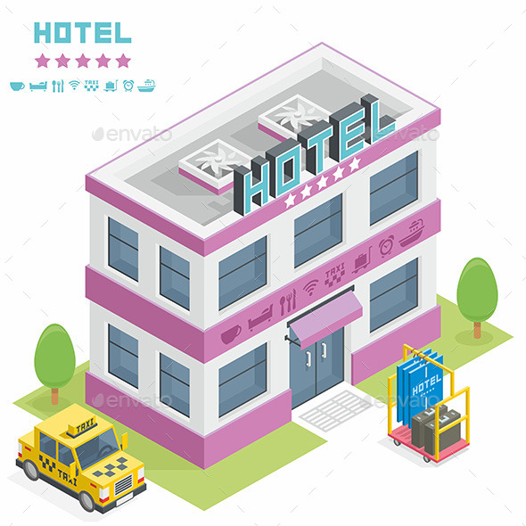 Hotel Building - Buildings Objects