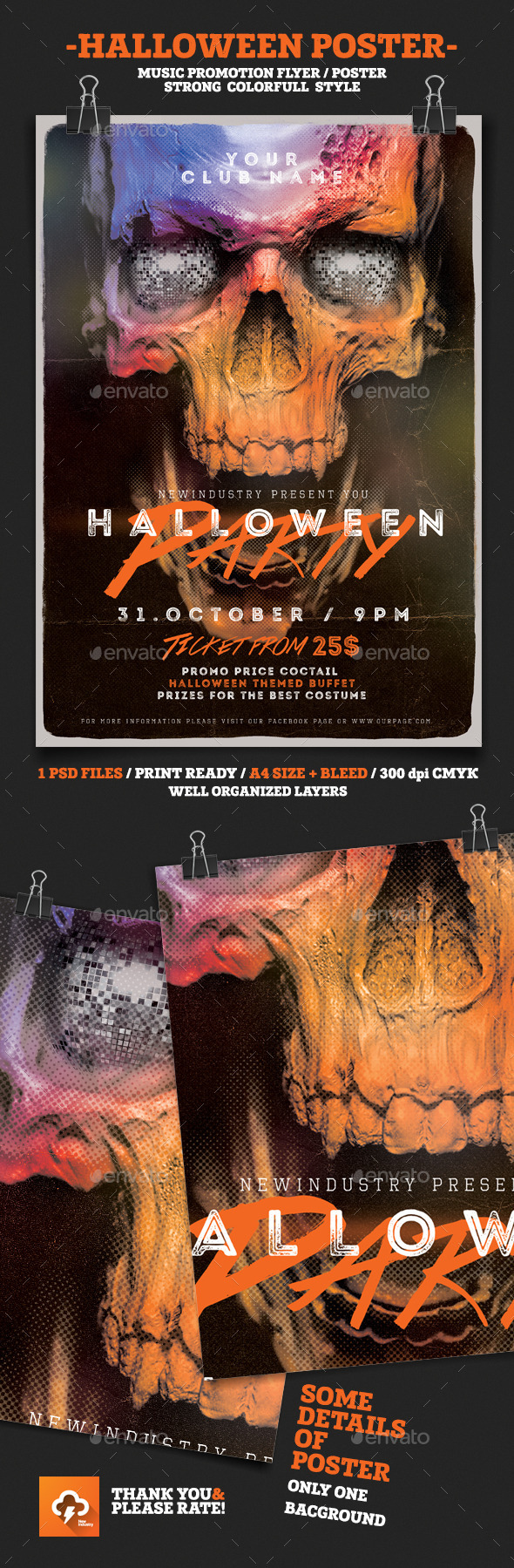 Halloween House Party - Events Flyers