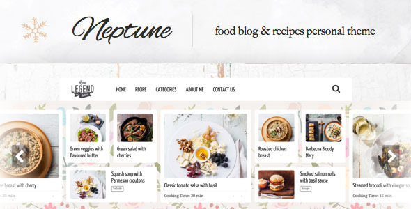 Neptune – Theme for Food Recipe Bloggers & Chefs