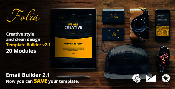 Folia Email Template + Emailbuilder 2.1 - Newsletters Email Templates