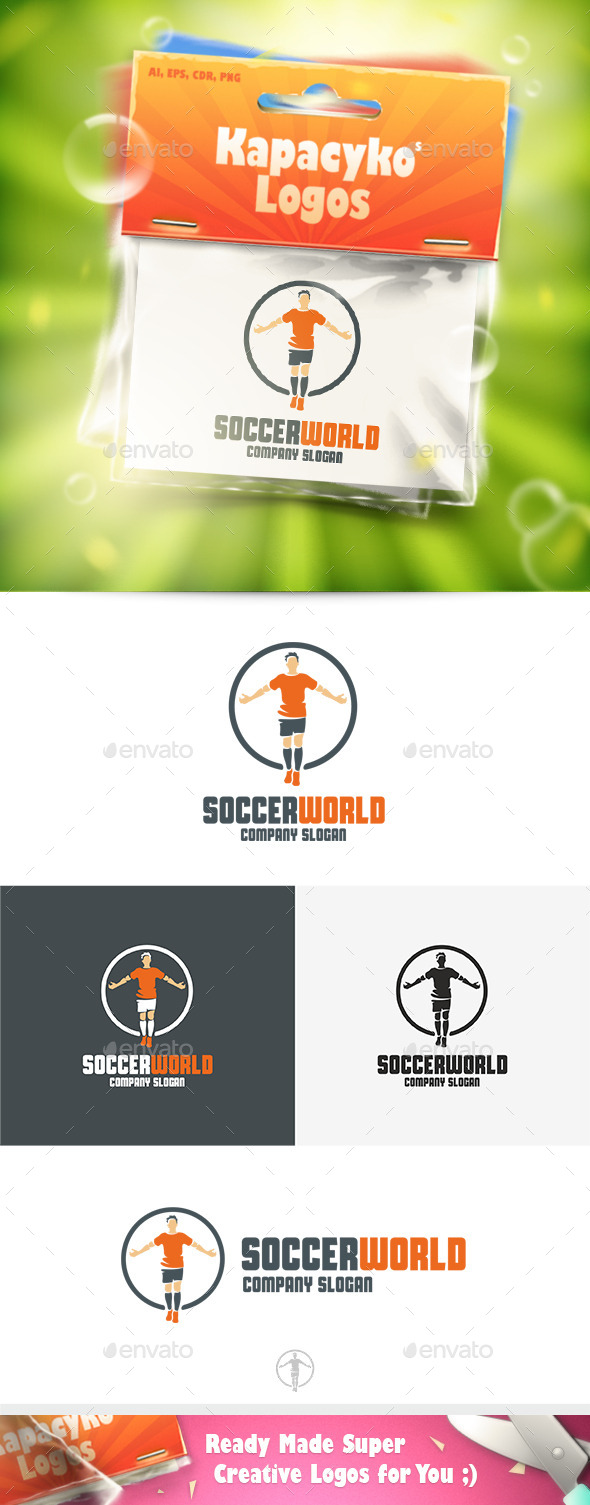 Soccer World Logo - Humans Logo Templates