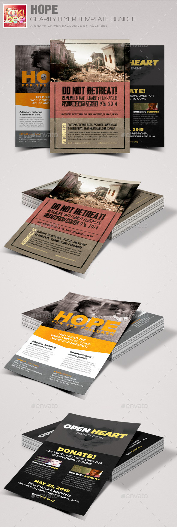 Hope Charity Flyer Template Bundle - Events Flyers