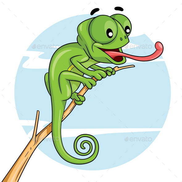 Chameleon Cartoon - Animals Characters
