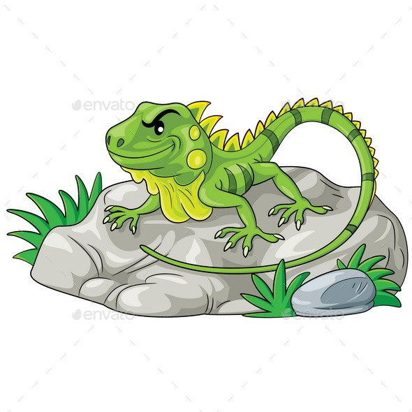 Iguana Cartoon - Animals Characters