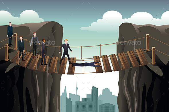 Businessman Helping His Colleagues - Concepts Business