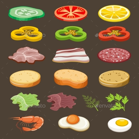 Food Slices For Sandwiches. - Food Objects