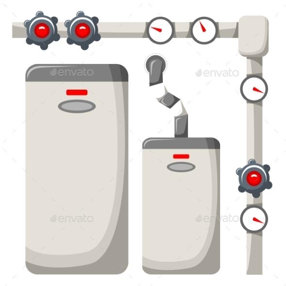 Boiler Room - Buildings Objects