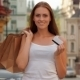 Girl With Shopping Bags Holding Credit Card - VideoHive Item for Sale