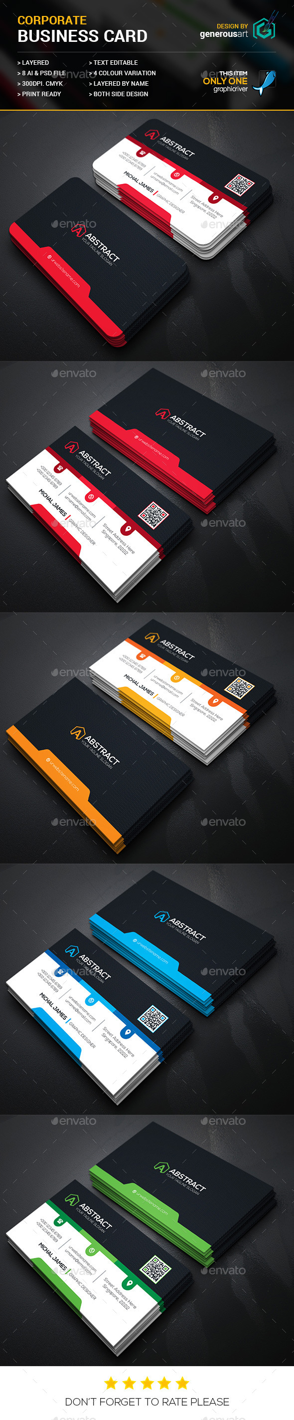 Mega Star Business Card_2 - Corporate Business Cards