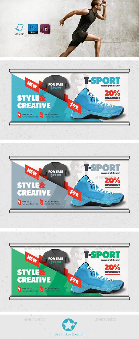 Sport Shop Billboard Teamplates - Signage Print Templates