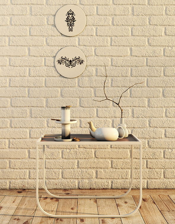 Realistic Decoration Table with Cookies