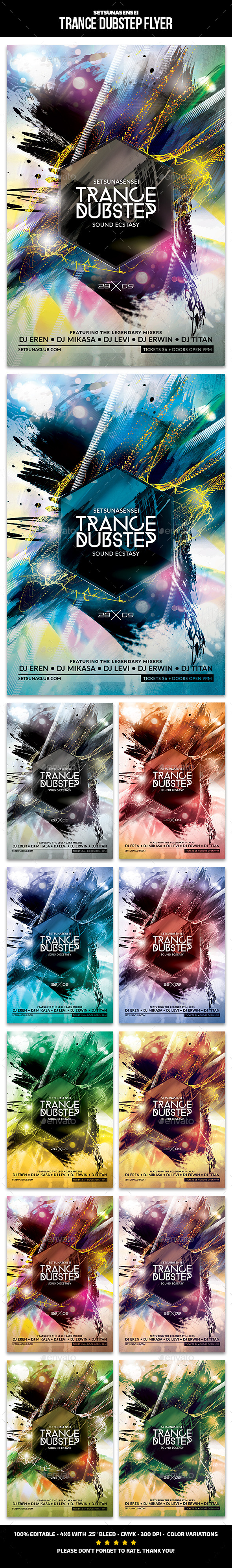 Trance Dubstep Flyer - Clubs & Parties Events