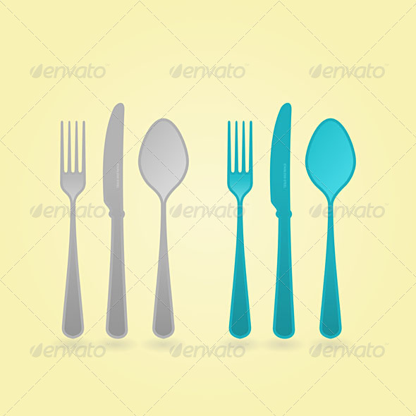 Vector Cutlery Concept - Man-made Objects Objects