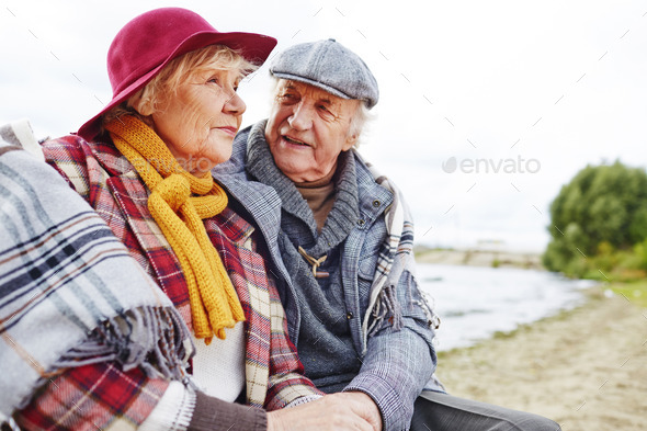 Restful aged couple - Stock Photo - Images