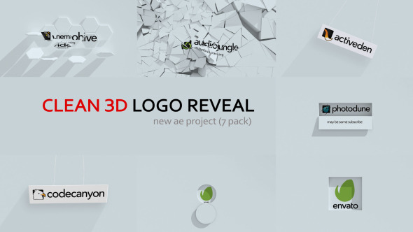 Clean 3D Logo Reveal