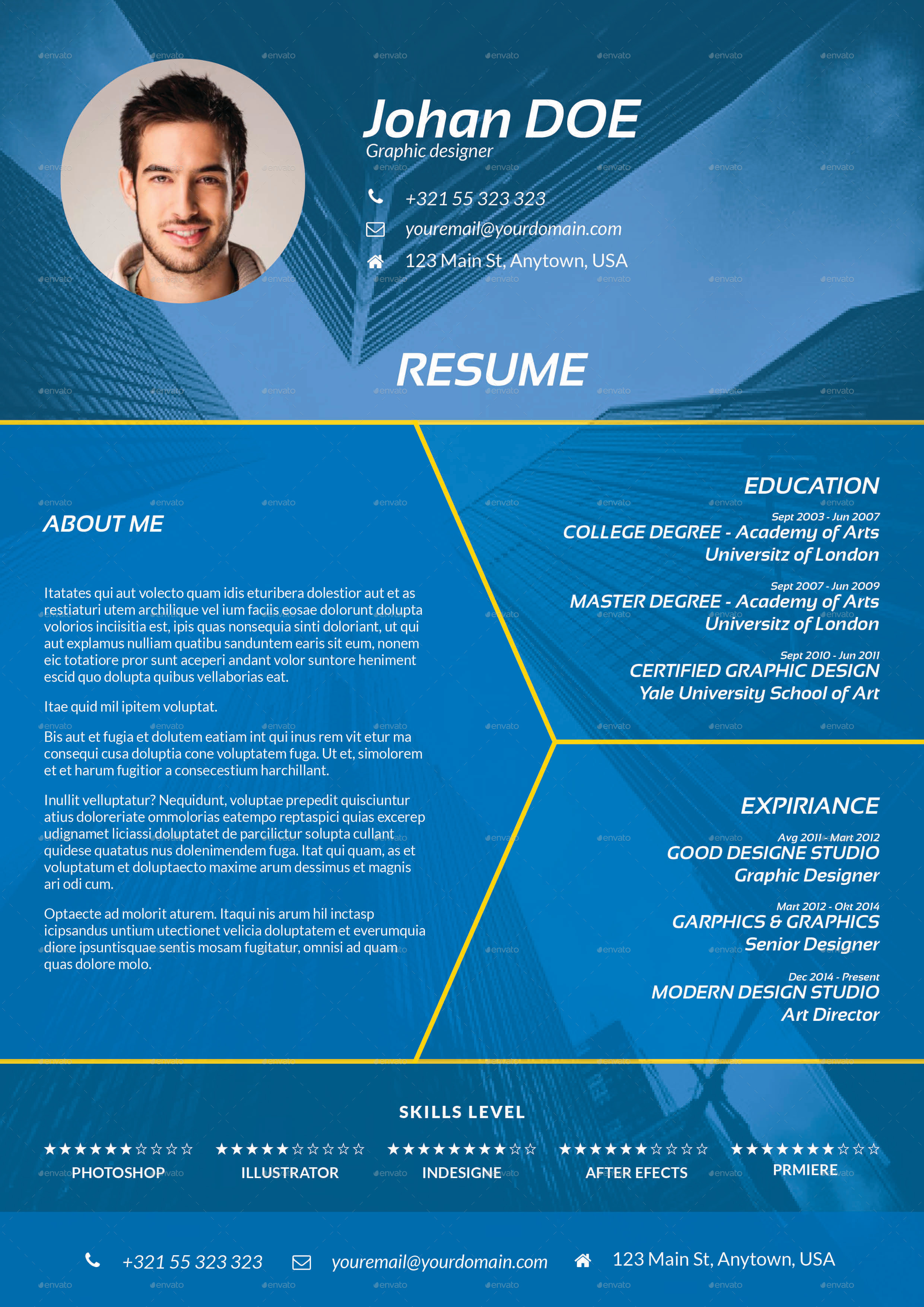 abstract cv  resume template by milos83