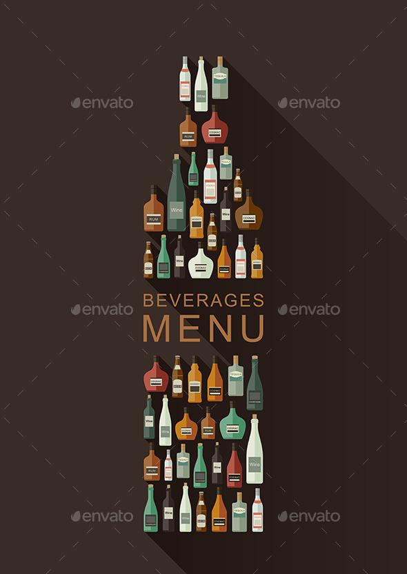 Alcoholic Beverages Menu - Commercial / Shopping Conceptual