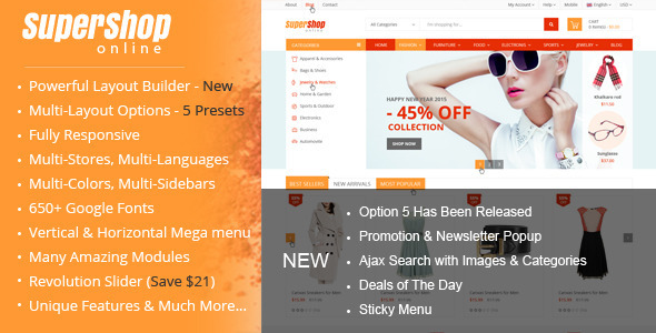 SuperShop – Multi-Purpose Responsive Prestashop Theme - Shopping PrestaShop