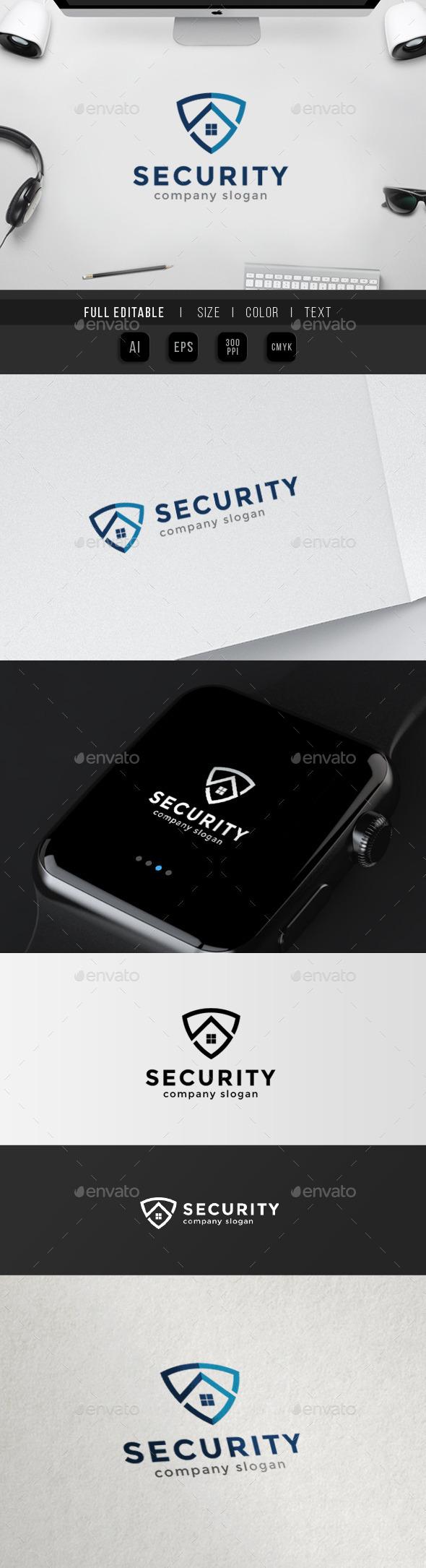 Home Security - Super Homecare - S Logo - Buildings Logo Templates