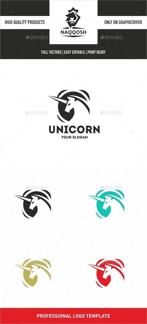 Unicorn - Symbols Logo Templates