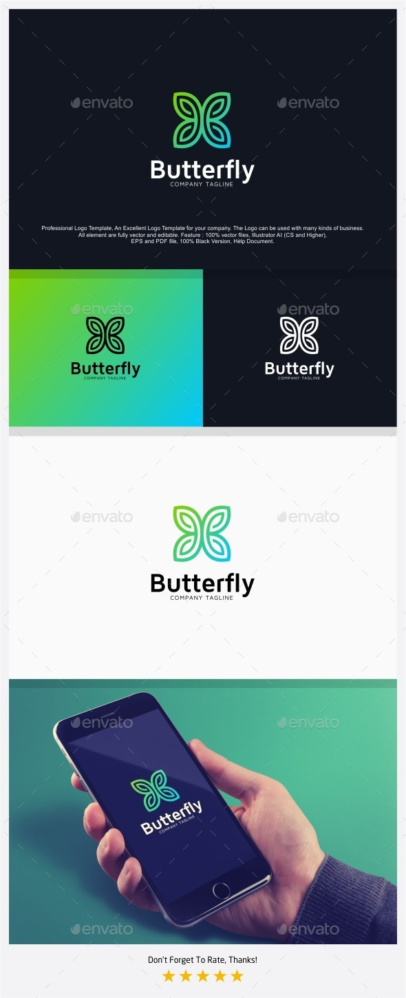 Butterfly - Fashion Logo - Abstract Logo Templates